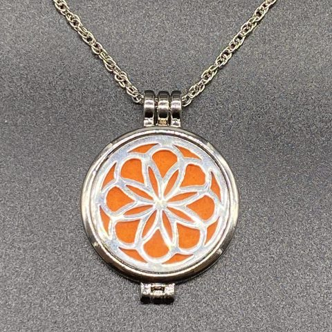 Spring Flower Diffuser Necklace